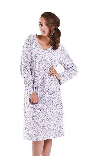dn-nightwear - Camisón - para mujer grey melange rose