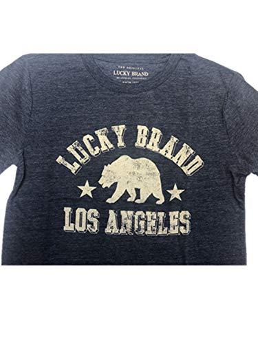 Lucky Brand Boys Short Sleeve T-Shirt, Variety (S, Blueberry Heather)