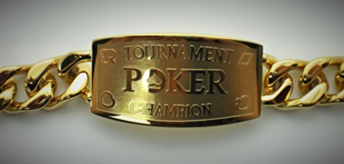 - Gold Tournament Poker Champion Bracelet - Great Prize for Your Tournaments