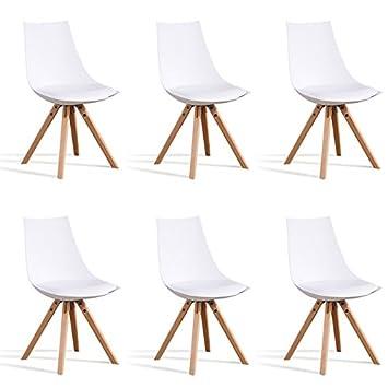 Set 6 Weiße Designetsamaison Skandinavischen Stühle MinskAmazon – XiPZTOku