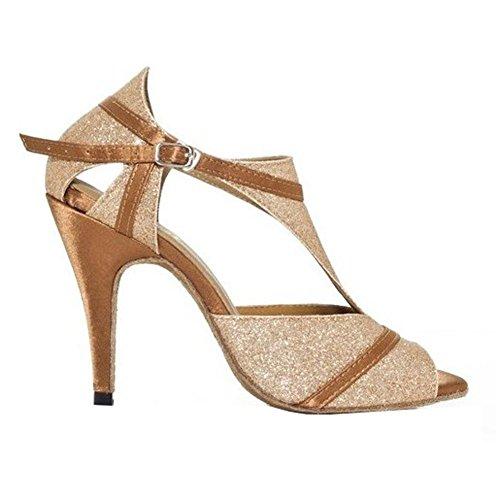 Pie Tango Dedo Hebilla Latino Sandalias Zapatos Abrir C Tacones De Oro De De Cuero Mujer Soft Del Salsa Baile Ballroom De Altos Samba Soles xvOqpO4Z