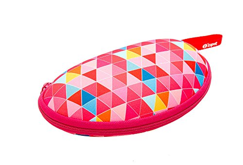 ZIPIT Colorz Box Glasses Case, Pink Triangles