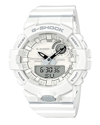 Men's Casio G-Shock Urban Trainer White Watch GBA800-7A (Best Price G Shock Watches)