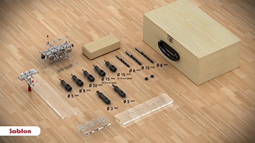 "Sablon Adjustable Minifix/Rafix & Shelving & Dowel Jig Set for 3/4"" (18-19mm) and 5/8"" (15-16mm) (Knockdown Shelving)"
