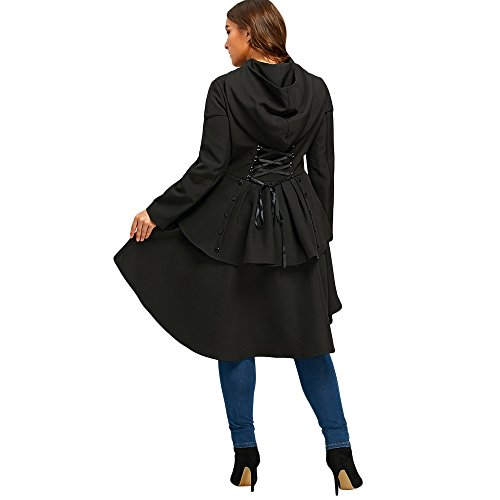 Mujer Gabardina para Abrigo negro CharMma q6tpxw