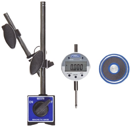 Indicator Dial Digital (Fowler 54-585-075 Fine Adjust Magnetic Base with Indi-X Blue Electronic Indicator Set, 0.0005
