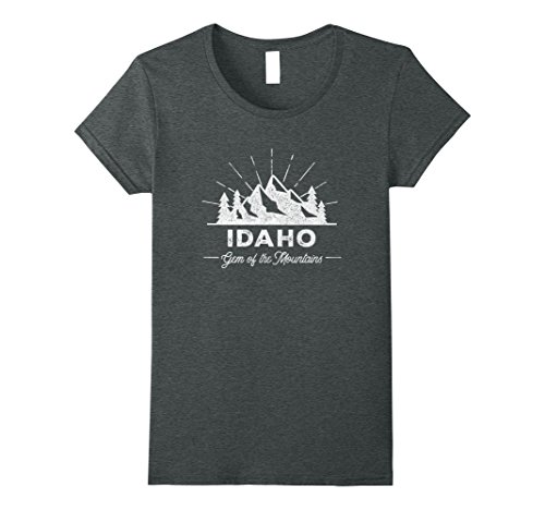 Womens Idaho T Shirt Vintage Hiking Retro Tee Design Medium Dark Heather