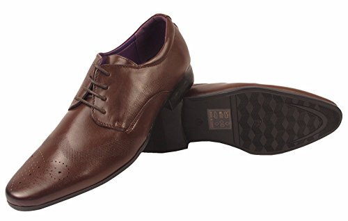 Italien Southwell Casual Faux Mariage Oxford Brogue Mens De Charles Chaussures Bureau Cuir Style Marron Formelle fIqYU5xw4