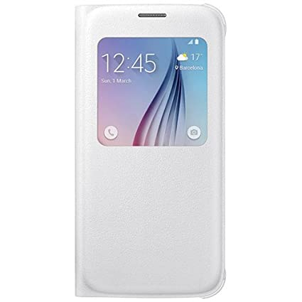 buy online 38481 9e05b Samsung S-View Flip Cover for Galaxy S6 (White Pearl)