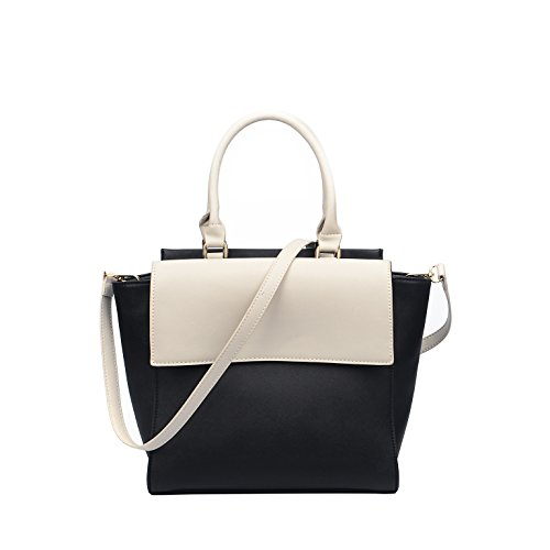 FASH Limited Satchel style Tote Bag - Black-White by FASH Limited