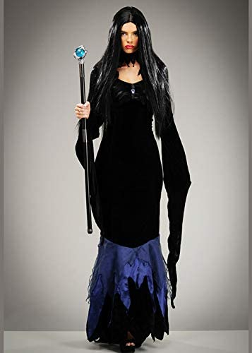 Disfraz de Cuervo Negro Estilo maléfico para Mujer Medium (UK 12 ...