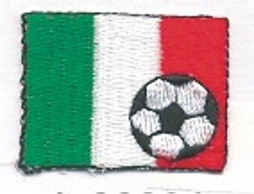 Soccer Ball Calcio Football Italy Italia Flag Bandiera Embroidery Applique ()