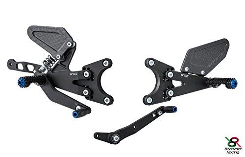 Bonamici Yamaha R1M Rearsets w/ Aluminum Heel Guard (15-17)