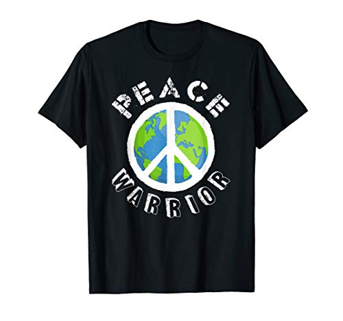 (Peace Warrior Tees, World Peace on Earth T-Shirt)