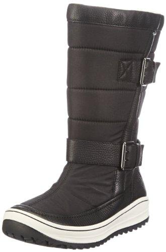 Traccia Nero Nero Nero Stivali Da nero Donna Ecco Cava Schwarz Tessile Nero 1dncyg7