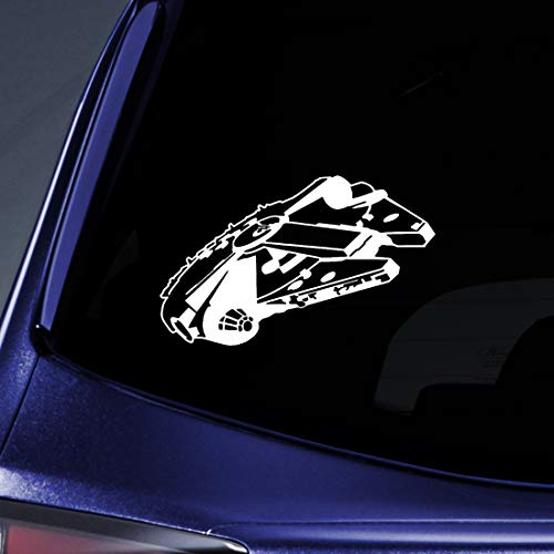 Bargain Max Decals - Millennium Falcon Sticker Decal Notebook Car Laptop 6