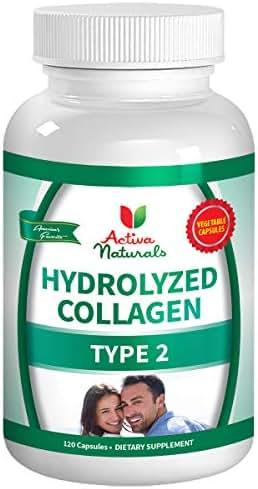 Activa Naturals Collagen Type 2 Hydrolyzed 1000mg Supplement - 120 Veg. Caps
