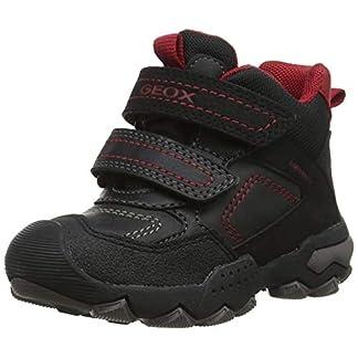 Geox Jungen J BULLER Boy B ABX E Hohe Sneaker, Schwarz (Black/Dk Red C0260), 24 EU 8