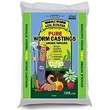 Worm Castings Organic Fertilizer, Wiggle Worm Soil Builder, 4.5-Pounds