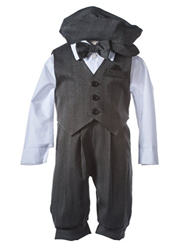 Boys Grey Pinstripe Knicker Set with Vest in Baby, Toddler (Boys Knicker)