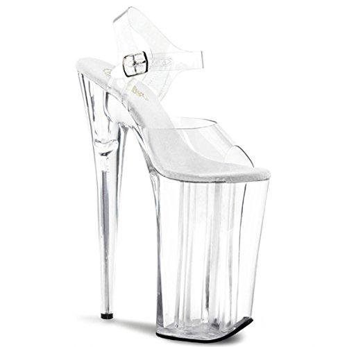 Heels-Perfect - Zapatos de vestir de material sintético para mujer transparente - Transparent (transparent)