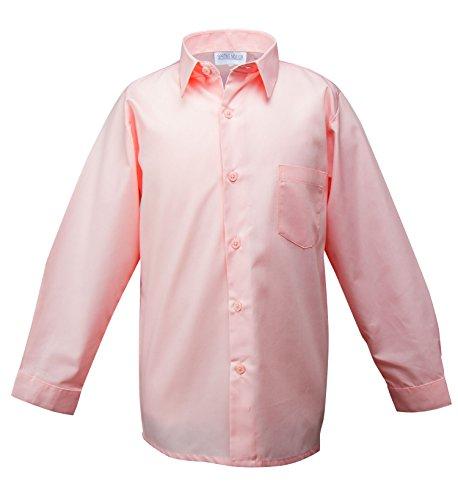 Spring Notion Big Boys' Long Sleeve Dress Shirt 3T (Pastel Pink Apparel)