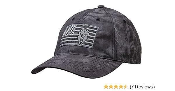 173c68713e3ff Amazon.com   Kryptek Typhon Camo Tonal American Flag Cap   Sports   Outdoors