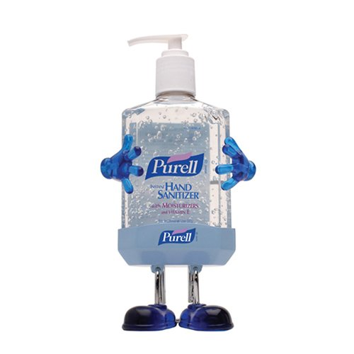 Purell GOJ9600PL1 Pal Instant Hand Sanitizer Desktop Dispenser with 8-fl. oz. Pump Bottle, Transparent Blue