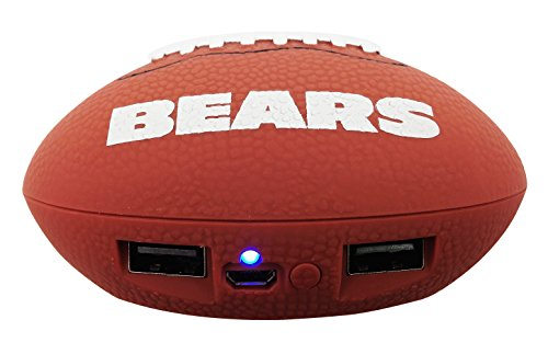 UPI Marketing, Inc. NFL Chicago Bears Phone Charger, One Size, Brown (Accessories Chicago Bears)