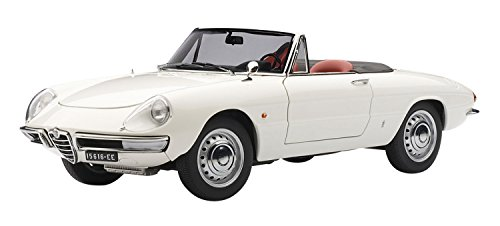 Alfa Romeo 1600 Duetto Spider in White By Autoart