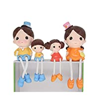 HanYoer 4 pcs/Set Resin Crafts Foot Hanging Dolls Ornaments Children