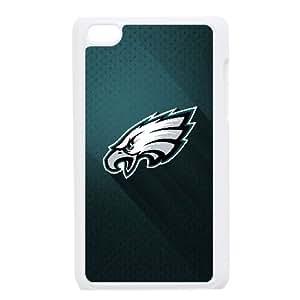 {Philadelphia Eagles Series} Ipod Touch 4 Case Philadelphia Eagles, Case Bloomingbluerose - White