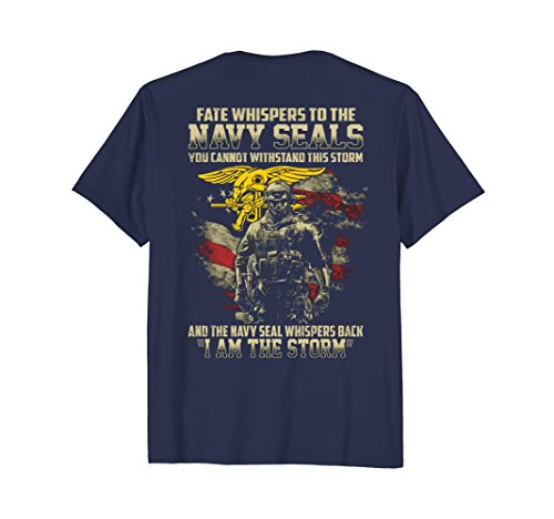 Mens Fate Whispers To The Navy Seals Shirt Large Navy