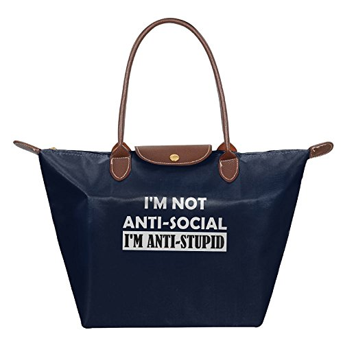 Adwelirhfwer Unisex I'm Not Antisocial I'm Anti-Stupid Convenience Packet Navy by Adwelirhfwer