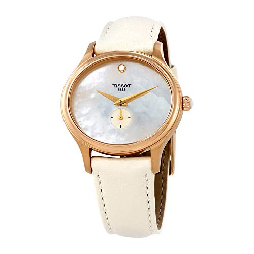 (Tissot Bella Ora Mother of Pearl Dial Leather Strap Ladies Watch)