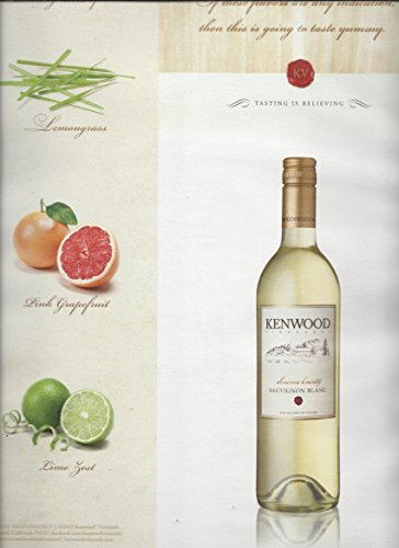 (MAGAZINE AD For Kenwood Vineyards Sauvignon Blanc Sonoma Tasting Is Believing)
