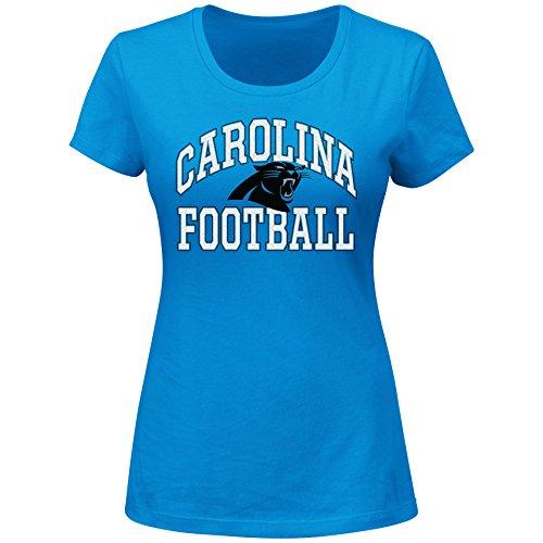 NFL Carolina Panthers Unisex Short Sleeved Scoop Neck Tee, Blue, 1X