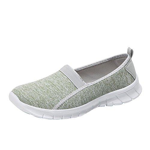 Zapatillas para Mujer Deporte Running Zapatos para Correr Gimnasio Sneakers Deportivas Transpirables Casual Menta Verde
