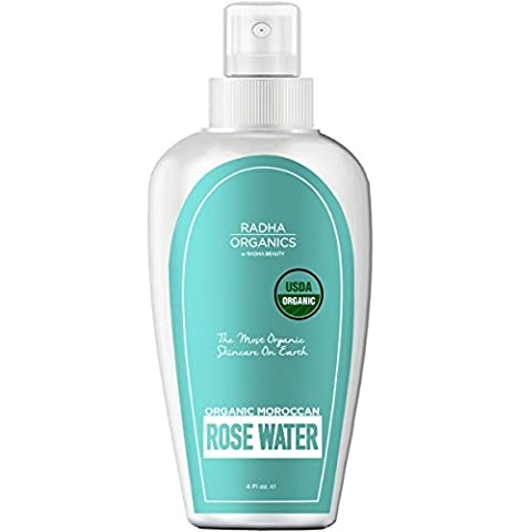 Radha Rose Water Toner - USDA Organic 100% Pure Moroccan Rosewater