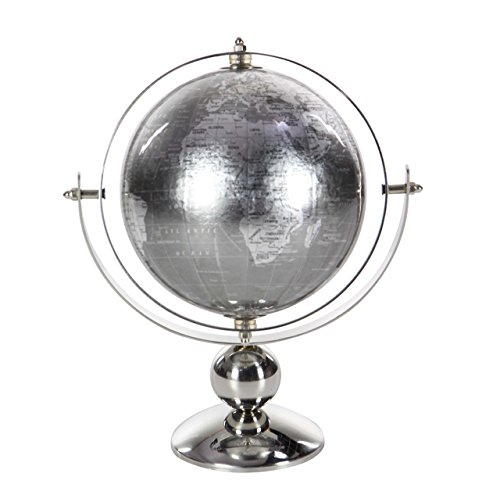 Deco 79 43489 Stainless Steel and PVC Globe Decor, 11