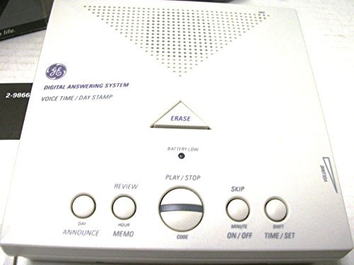 Ge Phone Answering Machine (GE Answering Machine - Fully digital with voice Time/Day Stamp)