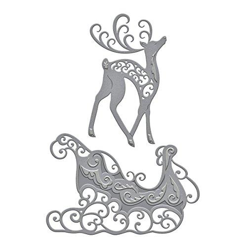 Spellbinders S4-551 Shapeabilities Reindeer & Sleigh Etched/Wafer Thin Dies by Spellbinders