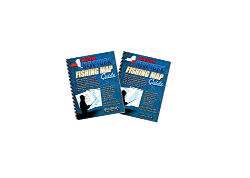 New York Greater Fishing Map Book Guides Set