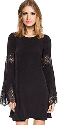 Buy bell sleeve lace mini dress - 3