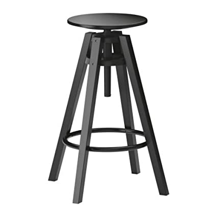 Ikea Dalfred Bar Stool (Black): Amazon.in: Home & Kitchen