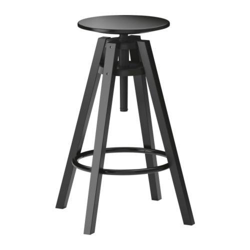 IKEA DALFRED Bar stool, black (Chair Ikea Bar)