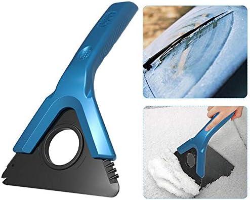 Gereton 多機能 雪シャベル 冬 雪除去 フォークリフト スノーブラシ 霜取り ショベル アイススクレーパー ワイパー 車用