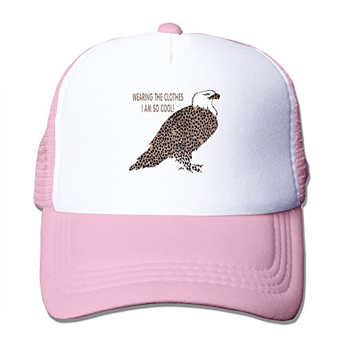 Cool Leopard Print Eagle Adult Baseball Trucker Hat Cap One Size (Adult Leopard Print Cowboy Hat)