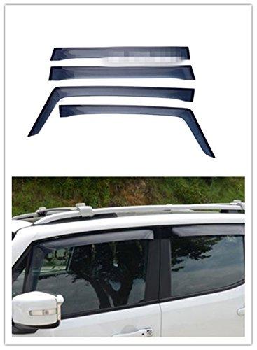 FMtoppeak 4pcs Smoke Black Window Visor Ran Sun Deflector Shelter Rain Guard Vent Shade for Jeep Renegade - Shades Ran