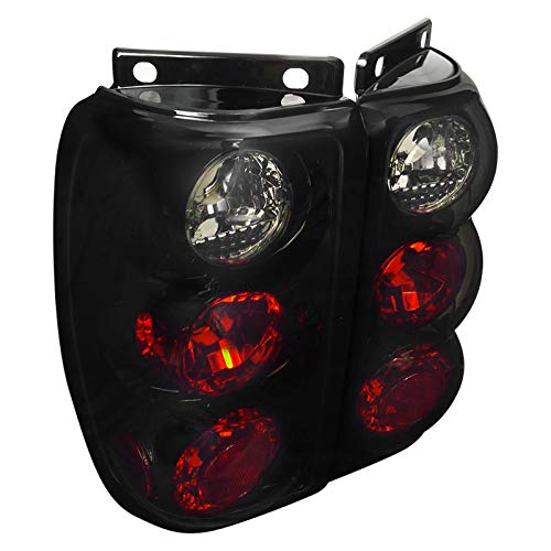 Spec-D Tuning LT-EPOR95BB-TM Glossy Black Ford Explorer Dark Smoked Altezza Tail Brake Lights